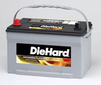 Diehard AMG Battery with high cold cranking amps rate