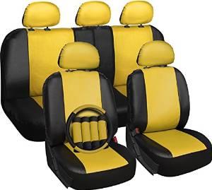 Custom yellow car seat covers custom fit