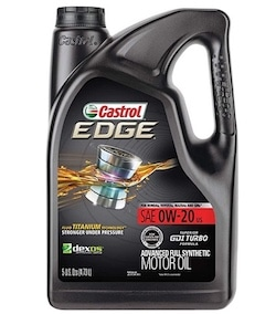 Castrol Edge 0w-20 Synthethic Oil Is Really the best 5 quart oil