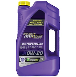 Royal Purple Synthetic Oil Works Good and is one of the best 5 quart oil