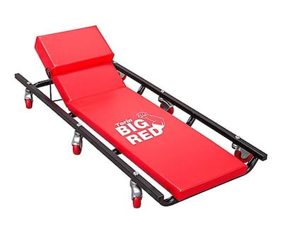 Big red creepers with adjustable headrest