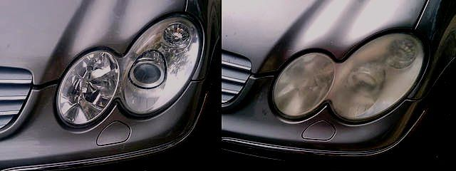 Clean Headlights on Car