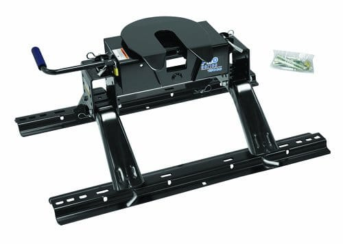 5th Wheel Hitch with anti rattle skid plate