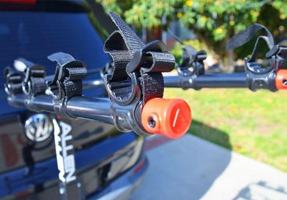 a bike racks for your car close up