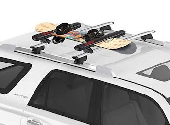 Snowboard roof racks for cars well design for ski transport
