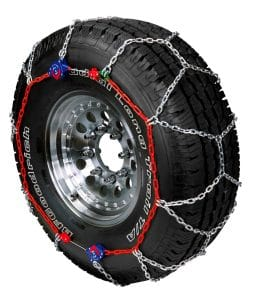 Tire chains for heavy snow