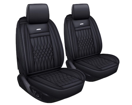 Black LUCKYMAN CLUB 2 Car Seat Covers