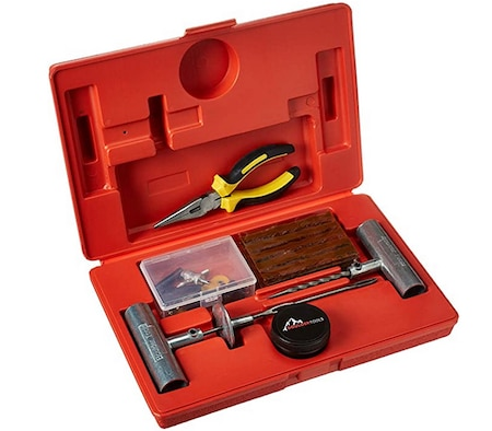 Boulder Tools - Plug Tire Repair Patch Kit for a Nail in a tire