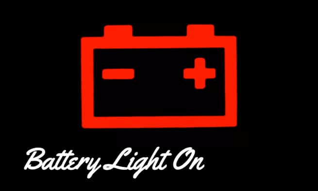 Battery light on while driving