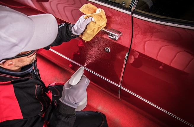 Cleaning a classic car and removing gas odor