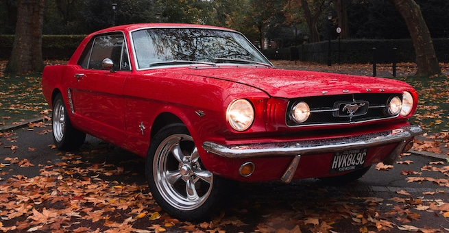 """Loveley Red Ford Mustang a """"Classic Car"""""""