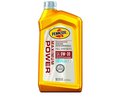 Pennzoil Maximum Power Full Synthetic 0W-30 Motor Oil