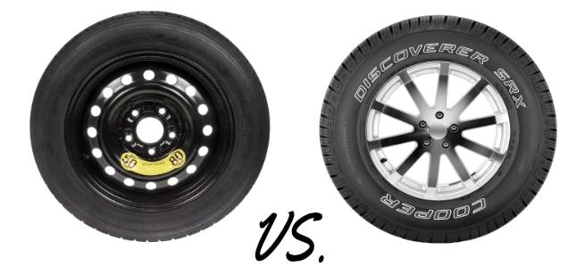 Donut spare tires vs full size spare tires