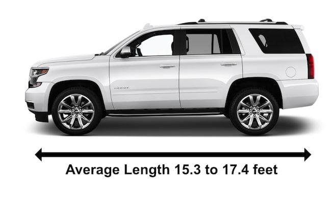 Chevrolet Tahoe SUV Car Length In Feet