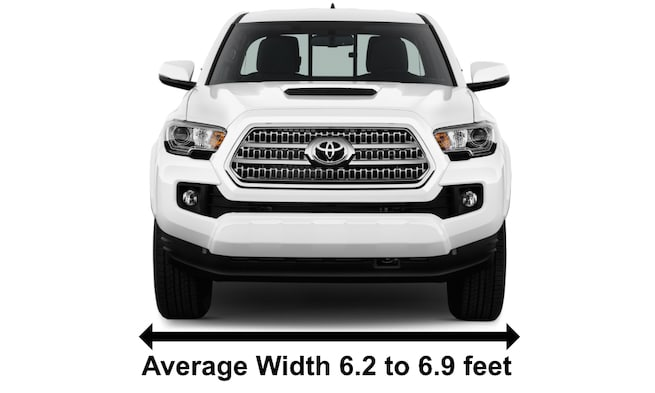 Toyota Tacoma Example Of Pick Up Truck Widths