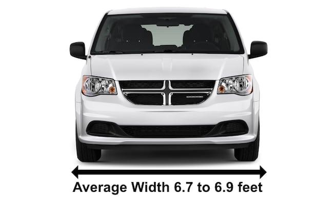 Dodge Caravan Mini Vans Average width example