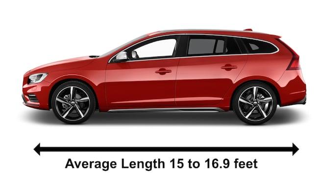 Volvo V60 Station Wagon Average Length Example