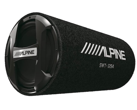 Alpine SWT-12S4 1500W Max (300W RMS) Single 12 Inch Sealed Subwoofer Tube Enclosure