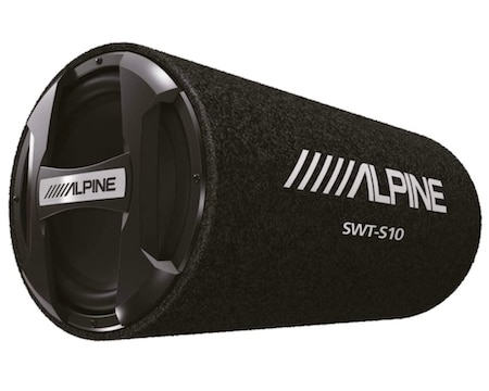 Alpine SWT-S10 1200W Max (250W RMS) Single 10 Inch Sealed Subwoofer