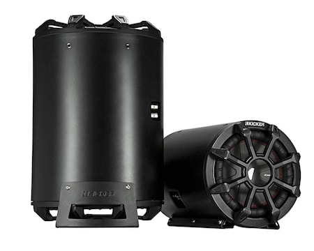KICKER CWTB 10 Inch Ultra Deep Loaded Trunk Mounted Tube Sub Speakers