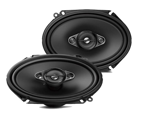 Pioneer TS-A6880F 6x8 Max Power A-Series 4-Way Car Audio Speakers
