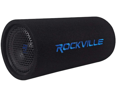 Rockville RTB80A 8 Inch 400 Watt Powered Subwoofer Bass Tube