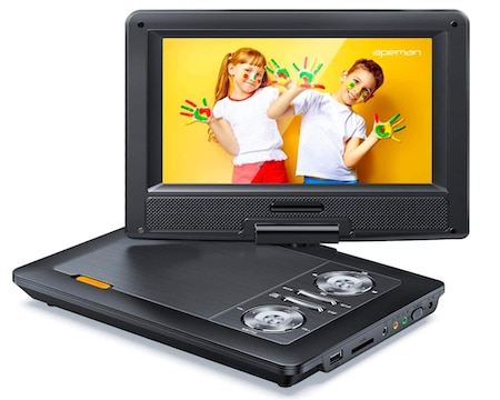 APEMAN 12 Inch Portable DVD Player with 9.5 Inc HD Screen