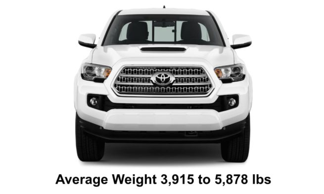 Average Weight of Pick Up Trucks