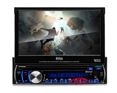 BOSS Audio Systems BV9986BI Car DVD Player - Single Din Bluetooth Audio and Hands-Free Calling