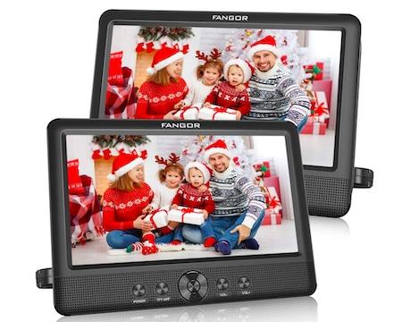 FANGOR 10.5 Dual DVD Player for Car Portable Headrest