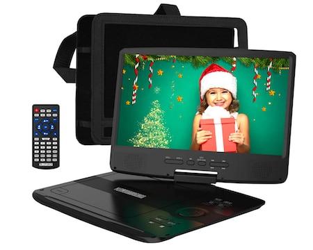 HDJUNTUNKOR Portable DVD Player 12.5 Inch with 10.1 HD Swivel Display Screen