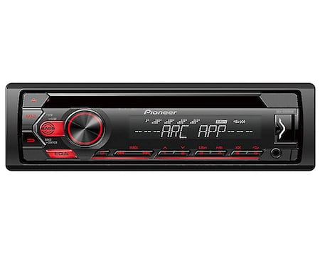 Pioneer Single Din In-Dash Arc Support Car Stereo Receiver Detachable Face Plate