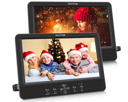 WONNIE 10.5 Portable DVD Players Dual Screen for Car